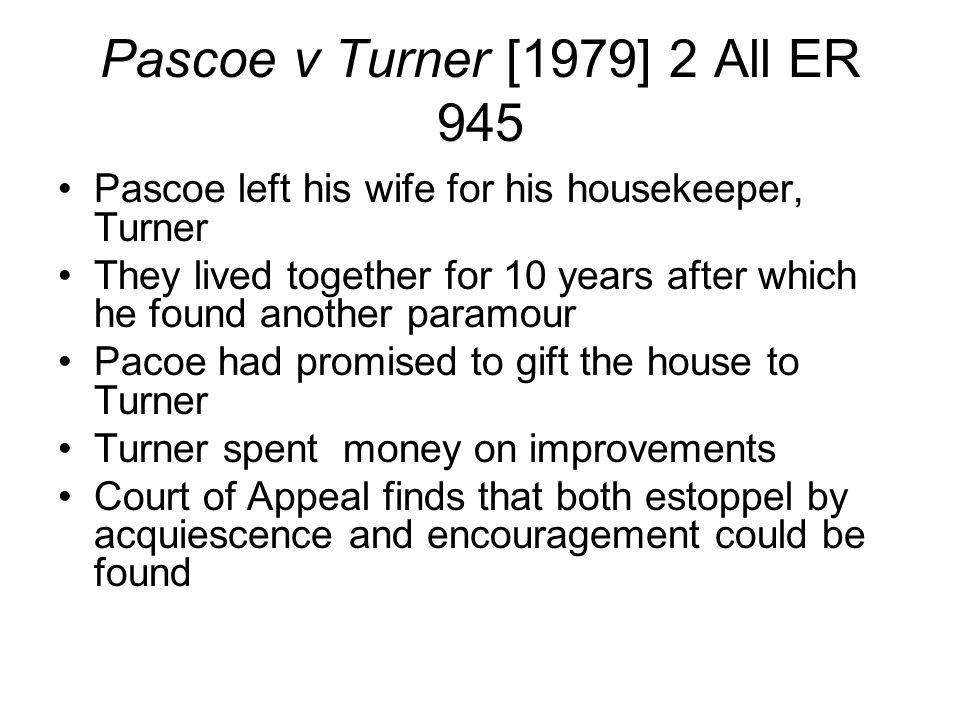 Pascoe v Turner [1979] 2 All ER 945